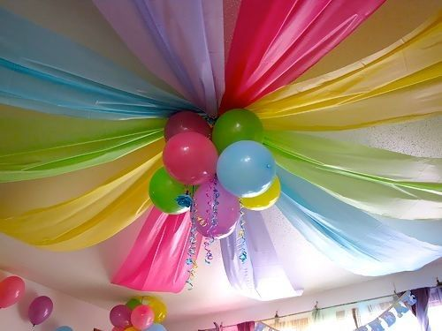 A Party Focal Point Using Balloons